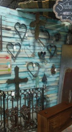 For Sale: Hearts and Crosses made of Old Tin @ Brass Bear - We are a new shoppe with 300 vendors in a 30,000 sq.ft. building. Everything you could want for the home, child's room, home office, plus clothing, shoes, boots, jewelry & accessories all under one roof.  2652 Valleydale Rd. Birmingham, AL 35244. Valleydale Village Shopping Center near Publix, Regions Bank and China Doll 2 restaurant at the intersection of Caldwell Mill Road and Valleydale Road. Open from 10AM to 6PM Mon-Sat…
