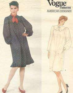 80s Diane Von Furstenberg Vogue Sewing Pattern 1038 by CloesCloset