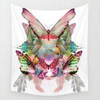 Butterfly Pattern Wall Tapestry