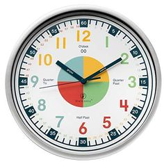 Teaching Clock with Silent Movement | Educational Clock that Makes Kids Learning Time Faster and Fun. Quiet Child Wall Clock Perfect for Parents and Teachers