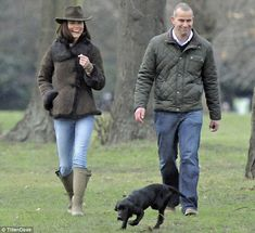 Fashion icon even when walking in the woods! (Kate and Lupo and SY protection ~ Kensington Gardens)