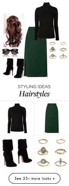 """Untitled #2858"" by injie-anis on Polyvore featuring Derek Lam, Majestic Filatures, Alaïa, Topshop and Tom Ford"