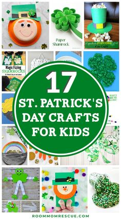 The best 17 St. Patrick's Day crafts for kids classroom style! Are you a room … – St Patrick's Day Crafts DIY March Crafts, St Patrick's Day Crafts, Holiday Crafts, Holiday Fun, Diy Crafts, Saint Patricks Day Art, St Patricks Day Crafts For Kids, St. Patricks Day, Diy St Patricks Day Decor