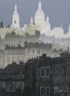 """66: Junichiro Sekino """"Night in Montmartre"""" 1959 : Lot 66"""
