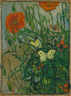 Vincent van Gogh (1853-1890), Butterflies and Poppies