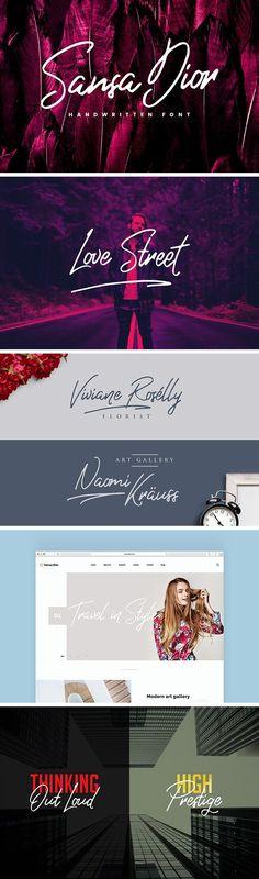 Sansa Dior Typeface