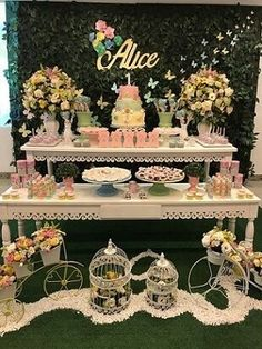 Birthday dinner decorations decor baby shower 37 ideas for 2019 Butterfly Birthday Party, Garden Birthday, Fairy Birthday Party, 1st Birthday Girls, Birthday Parties, Butterfly Table Decorations, Birthday Decorations, Baby Shower Themes, Baby Shower Decorations