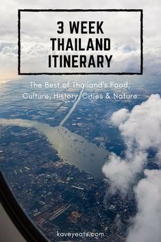 Flight Over Bangkok City - 3 Week Thailand Itinerary