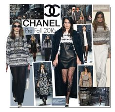 """Chanel Pre-Fall 2016"" by kusja ❤ liked on Polyvore featuring мода, Chanel, fashionshow и prefall"
