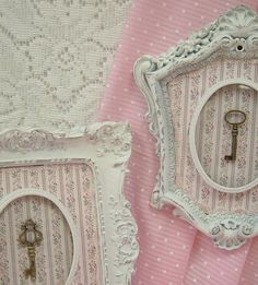 RESERVED Shabby Chic Ornate White Frames by MountainCoveAntiques