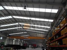 Nave industrial con lucernario policarbonato cubierta 30mm