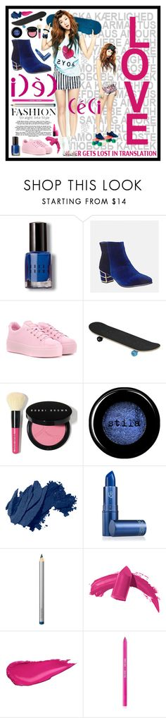 """Love Pink & Navy Fashion"" by beanpod ❤ liked on Polyvore featuring Bobbi Brown Cosmetics, Avenue, Kenzo, Stila, Lipstick Queen, Laura Mercier, Sigma, MAC Cosmetics, love and Pink"