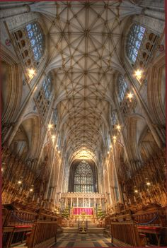 """York Minster. My aunt Max, who was a confirmed atheist commented when we visited """"If there is a God, he lives here."""""""