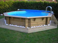 Piscine hors sol en bois #piscine_bois