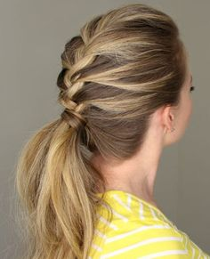 Braided Pony Formal Hairstyles for Women 2015 - 2016