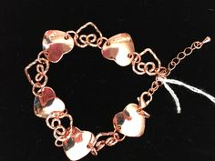 Copper Flat and Twisted Heart Bracelet - pinned by pin4etsy.com