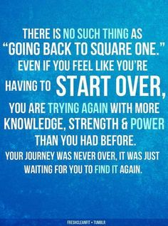 You can't go back in time. You can only move forward and try again.