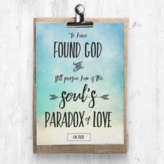 """The Soul's Paradox of Love 8""""x10"""" Color Print"""