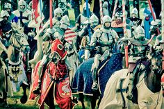 Knights on a Medieval Battle - Battle of Grunwald 1410 - the biggest medieval battle reconstruction event / Poland
