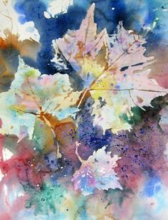 Leaves by Joe Cibere - links to great watercolors