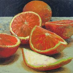 Orange crush Kelley Somer - my kitchen neeeeeeeeds this! Still Life Fruit, Fruit Painting, Kitchen Art, Kitchen Nook, Oranges And Lemons, Painting Still Life, Traditional Art, Illustrations, Love Art