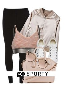 """""""Sporty Look"""" by monmondefou ❤ liked on Polyvore featuring Dorothy Perkins, WithChic, USA Pro, Converse, Givenchy, Christian Dior, casual, Pink and sporty"""
