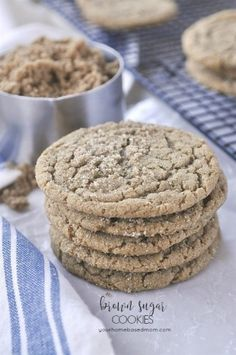 The flavor in these Brown Sugar Cookies is amazing and the texture is perfection! Traditionally, sugar cookies are made with white sugar but today we are switching things up and using dark brown sugar. And let me tell you, the change is amazing. In addition to the brown sugar there is also browned butter in these cookies and that is another WOW in my book.