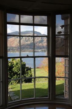 Myles Lee Crampton -  Brantwood 'turret' window - With the view East across Lake Coniston, Cumbria