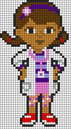 Dottie - Doc McStuffins Perler Bead Pattern