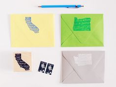 Home State Personalized Return Address Stamp from Paper Pastries
