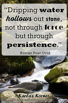 Karla's Korner: The Importance of Persistence