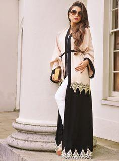 Muslim Women Fashion, Arab Fashion, Womens Fashion, Winter Fashion Outfits, Fashion Dresses, Hijab Style Dress, Modele Hijab, Hijab Collection, Abaya Designs