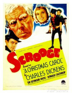 Scrooge (1935) starring Seymour Hicks, Donald Calthrop. Watched December 2013, TCM.