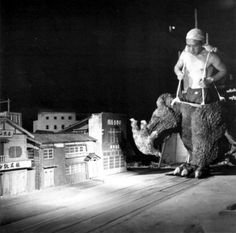 Godzilla (albeit only his lower half) terrorizes a poor Japanese town.