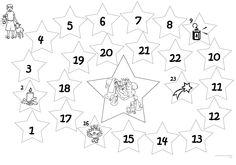 Advent Calendar Catholic Coloring Page