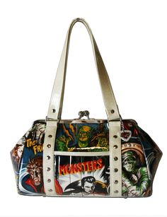 Hold Fast Handbags Retro Monster Movie Purse