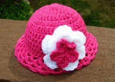 Cute hot pink American Girl Doll hat.