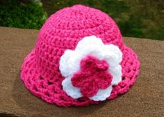 Cute hot pink American Girl Doll hat.