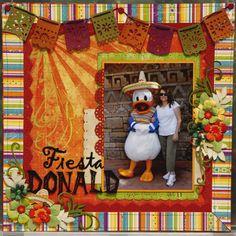 Fiesta Donald - disneyscrappers Cruise Scrapbook, Disney Scrapbook Pages, Kids Scrapbook, Scrapbook Cards, Scrapbooking Ideas, Digital Scrapbooking, Scrapbook Examples, Scrapbook Sketches, Scrapbook Page Layouts