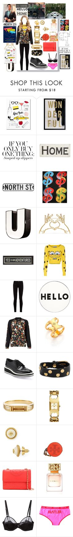 """Buying a brand new apartment-♥"" by aliceridler ❤ liked on Polyvore featuring Oliver Gal Artist Co., Primitives By Kathy, Andy Warhol, Mulberry, Pottery Barn, Moschino, Gucci, Lisa Perry, Miss Selfridge and Tory Burch"
