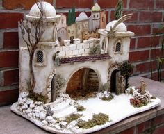 Pin by Isabel Guzman on Nativity Christmas Villages, Christmas Nativity, Christmas Time, Christmas Crafts, Christmas Decorations, Christmas Ornaments, Fantasy Miniatures, Dollhouse Miniatures, Doll House Crafts