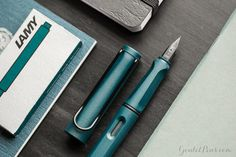 This fountain pen is a must-have! The 2017 Special Edition Lamy Safari Petrol is gorgeous in deep teal with black accents. Pin for later.