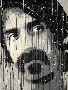 "Saatchi Art Artist York Gehrke; Painting, ""Zappa"" #art #FrankZappa #Zappa #AcrylicPunk #York #Painting #Artwork"