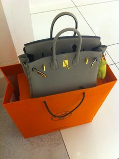 Hermes Birkin 25cm Gris with Gold HW