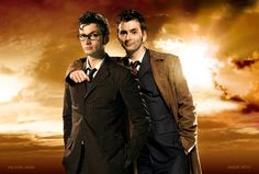 Look at that hot stuff! The 10th Doctor x2.