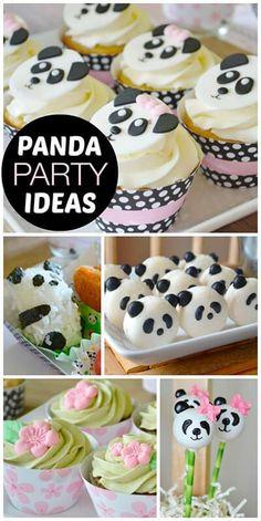 cupcake panda oreo festa panda