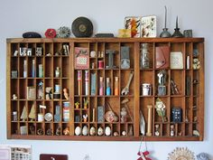 antiques in type tray by claychick, via Flickr