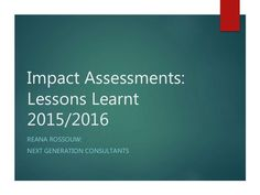 This presentation follows on our previous work from measuring the impact and return on investment of social, community, enterprise development programs.  This …
