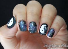 Alphabet Nail Art Challenge: Y for Yin Yang