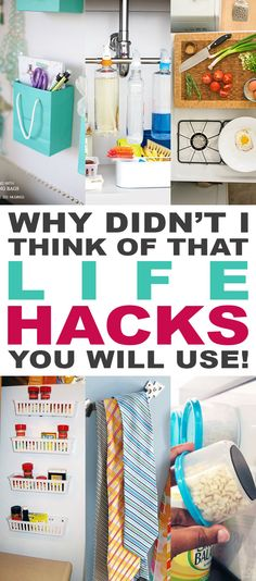 Why Didn't I Think Of That Life Hacks You Will Use. A Collection of useful Life Hacks that you are going to enjoy and share with family and friends. Organisation Hacks, Home Organization, Organizing Tips, Organising, Simple Life Hacks, Useful Life Hacks, Best Life Hacks, Life Tips, Life Hacks Iphone